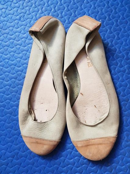 Zapatos Chatitas Clona De Cuero.