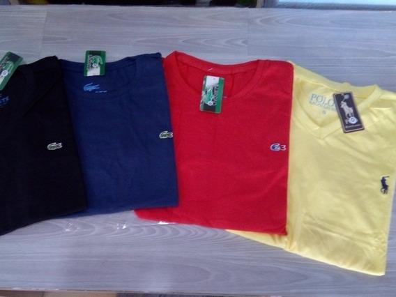Kit Com 4 Camisetas Marcas Famosas Lá:;cost&/