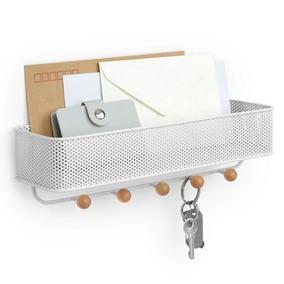 Estique - Porta Chaves E Organizador Branco Clean Umbra