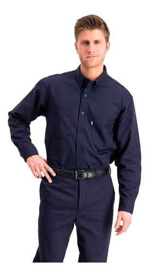 Camisa Gabardina Texas Manga Larga 100%alg + Bordado Oferta