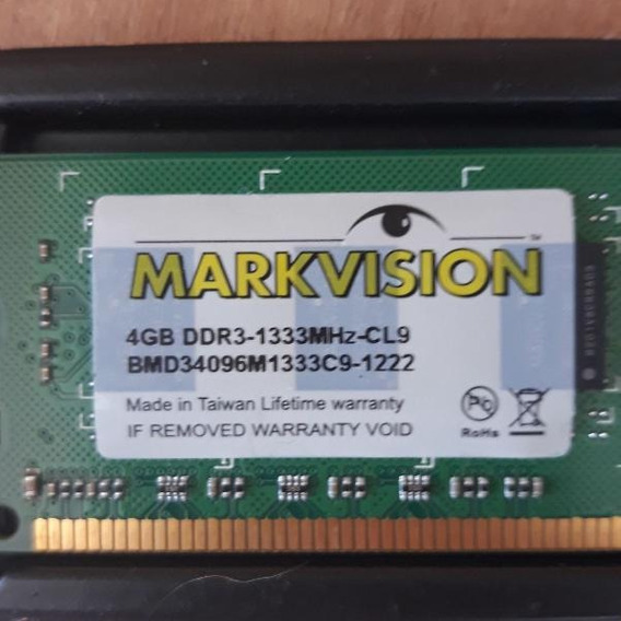 Memoria Notebook 4gb Ddr3 1333 10600s Markvision