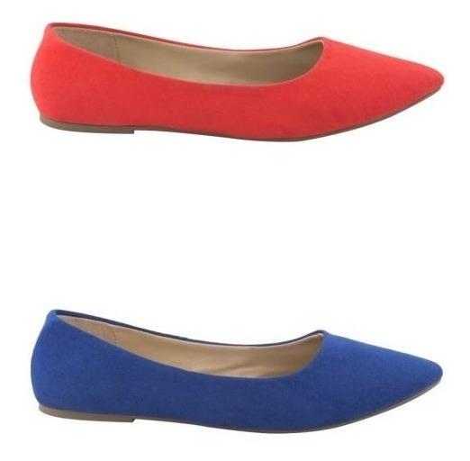 Kit 2 Pares Balerina Pink Rojo Azul 821041 T+1 1-19c