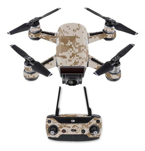 Skin Para Dji Spark Mini Drone Combo  Desierto Camo  Mi-1x9