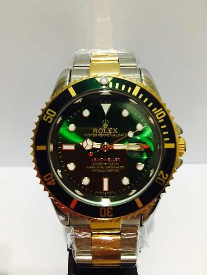 Relógio Submariner Misto Verde + 2baterias + Frete Grátis!!!
