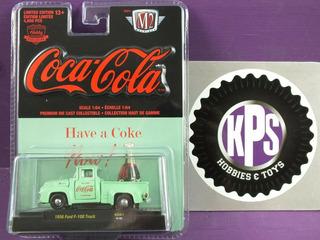 M2 Coca Cola 1956 Ford F-100 Truck En Hobby Verde Exclusivo