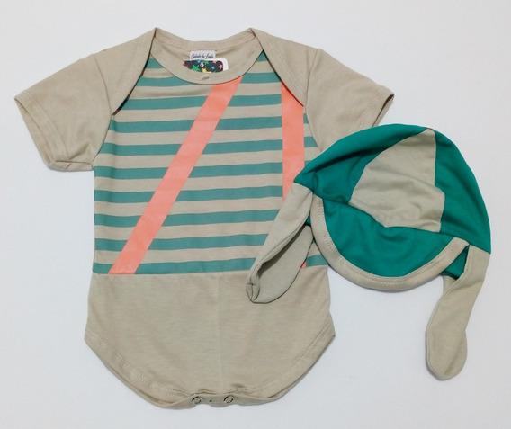 Body Infantil Chaves Com Boina