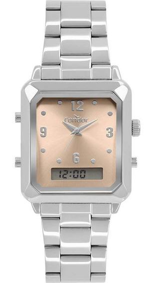 Relógio Condor Top Fashion Prata Unissex Cobj3718ac/4m