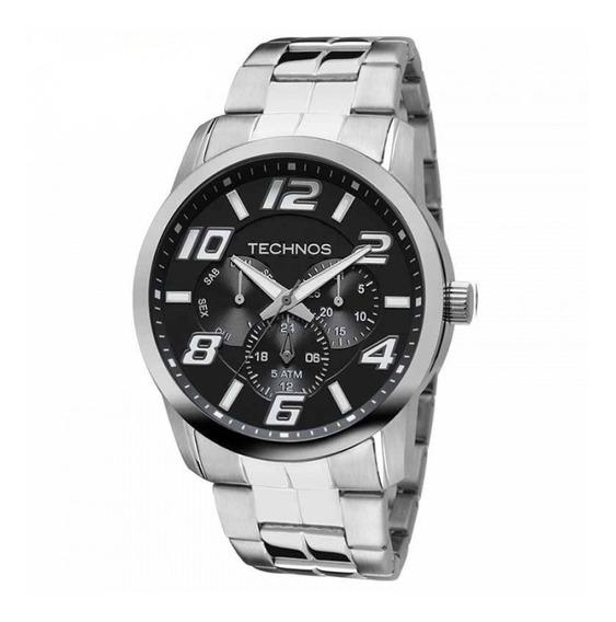 Relógio Masculino Technos 6p29aft/1p Racer Prata