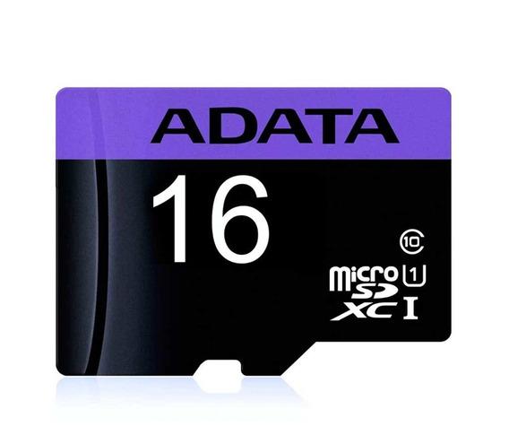 Memoria Adata Usdh16 Micro Sd 16gb Clase 10 Adaptador