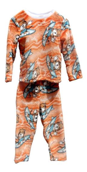 Pijama Felpa Caliente Niño Niña Afelpada
