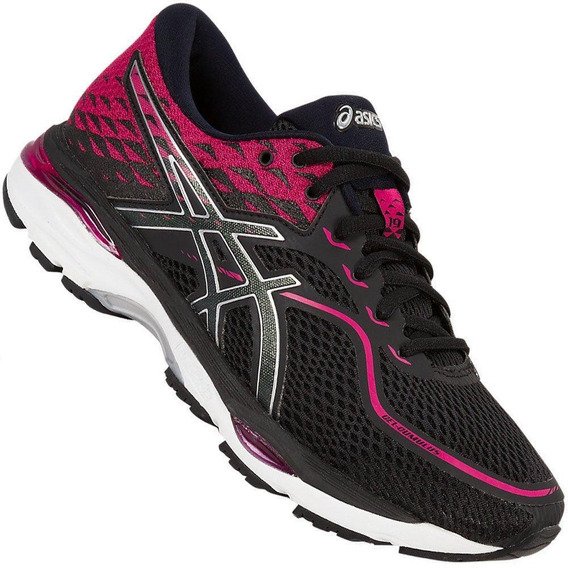 Tênis Running Asics Gel Cumulus 19 T7b8n Feminino Preto Pink