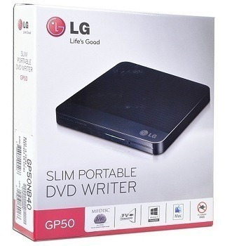Quemador Dvd Lg Slim Portable Writer Gp50