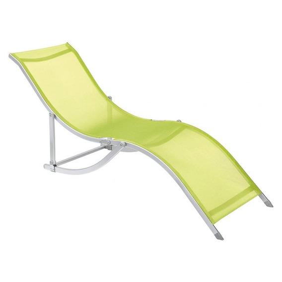 Cadeira Espreguiçadeira S Alumínio Verde Bel Lazer