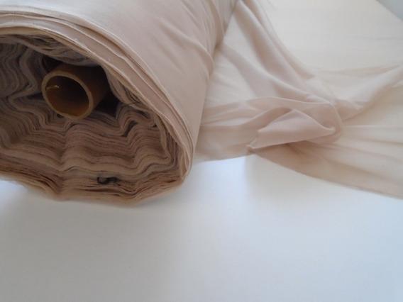 Tule Liso Com Elastano Para Camisolas - Saldo De Indústria
