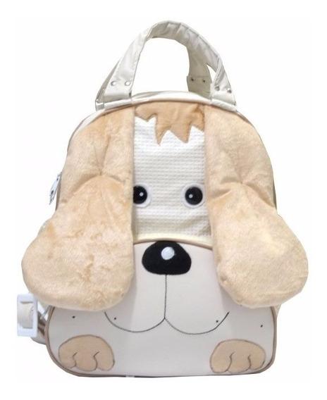 Mochila Infantil Dog Para Menina Cor Palha Bebê Barato