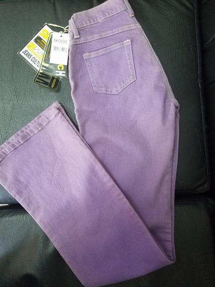 Pantalon Jean Mujer Talla 7/8 Lila Importado Nuevo