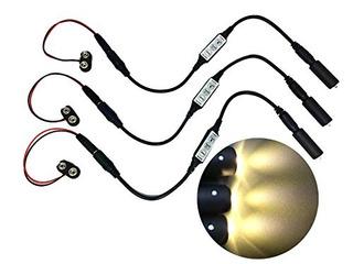 3 Pack Color Blanco Led Micro Luz De Efecto Con Flash Destel