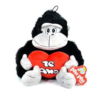 Gorila De Peluche Con Corazón 25 Cm