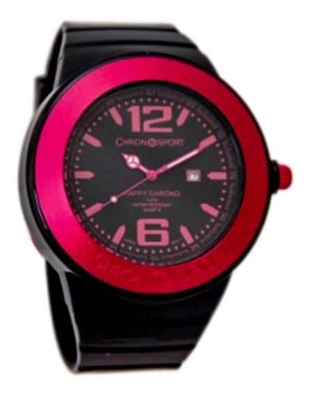 Reloj Chronosport New Happy Negro/fucsia Tienda Oficial