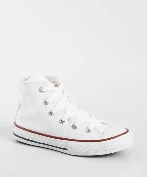 Tênis Da Converse All Star Branco, Cano Médio
