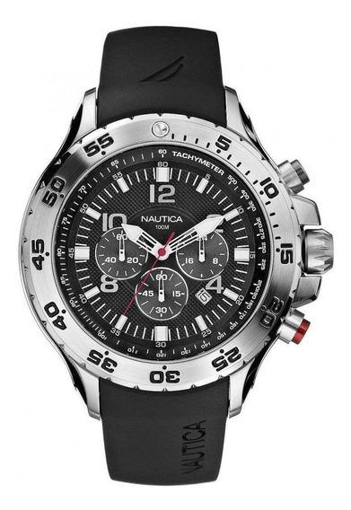 Relógio Nautica Só Pulseira Compatível Silicone Preta