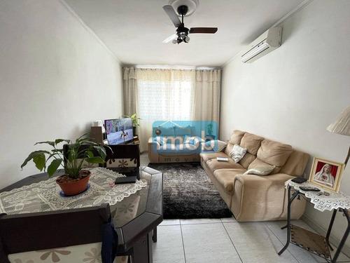 Imagem 1 de 10 de Apartamento Com 3 Dormitórios À Venda, 90 M² Por R$ 480.000,00 - Gonzaga - Santos/sp - Ap8027