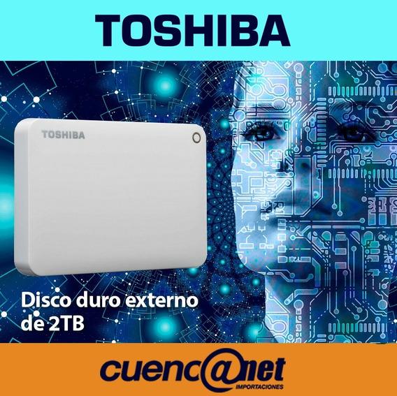 Disco Duro Externo 2tb Canvio Advance 3.0 Blanco Hdtc920xw3a