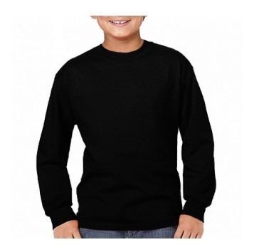 Kit 2 Camisetas Infantis Manga Longa Básica Algodão Unissex