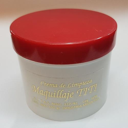 Imagen 1 de 1 de Crema Desmaquillante Maquillaje Titi Pote 100gr