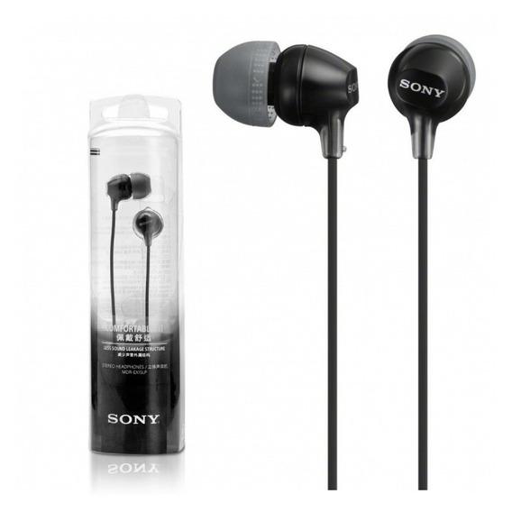 Fone De Ouvido Estéreo Intra-auricular Sony Mdr Ex15lp Preto