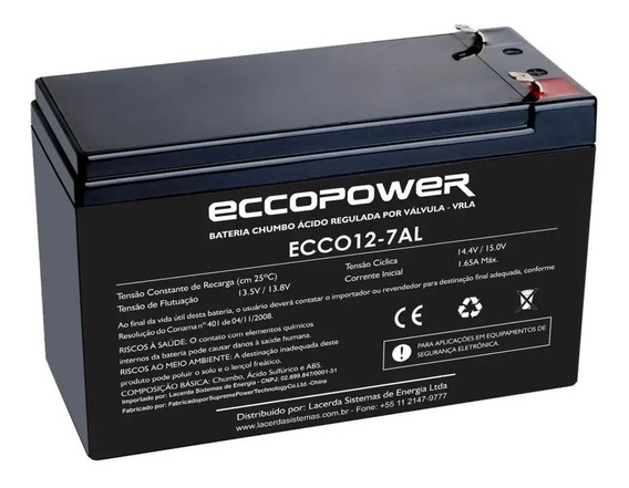 Bateria Selada Recarregável 12v 7ah - Alarme Elétrica Segurança Cftv Som