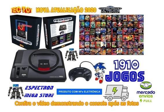 Console Mega Drive Ed. Limitada Tectoy 1700 Jogos F. Grátis
