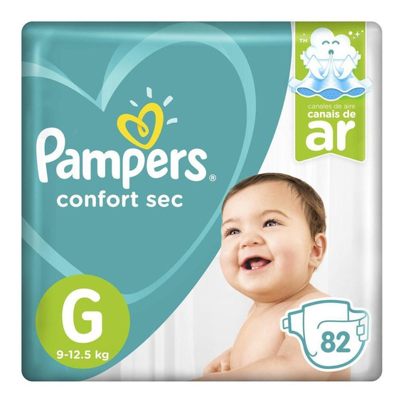 Fraldas Pampers Confort Sec G 82 Un Limite 12 Pctes P Pedido