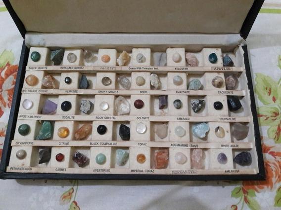 Mostruário Com Minerais Semi-preciosos Brasileiro