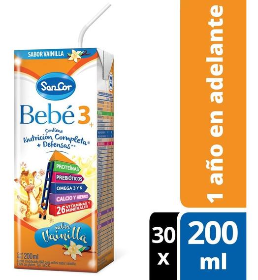 Leche Sancor Bebe 3 Vainilla 200ml X 30 Unidades