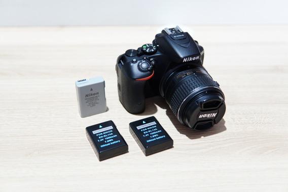 Câmera Nikon D5500 + Lente 18-55mm F/3.5-5.6 + Duas Baterias