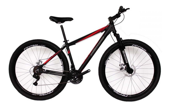 Bicicleta Mtb Aro 29 Elleven Gear 21 Marchas Preto/vermelho