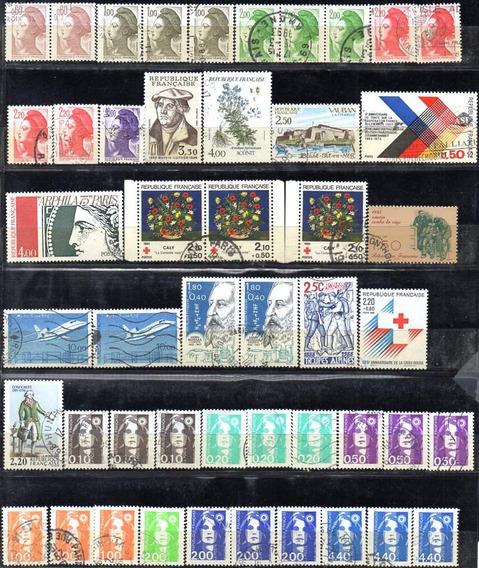 Francia 1959/1998. Muy Bonito Lote De 337 Sellos Usados.
