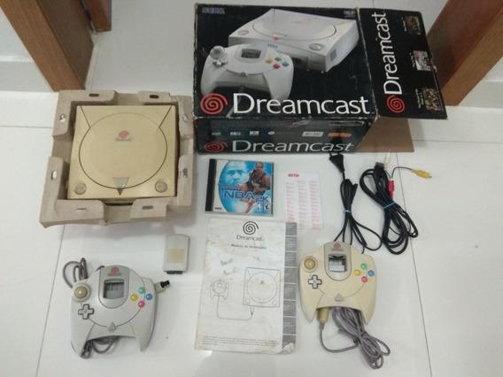 Sega Dreamcast Tectoy Completo Na Caixa 2 Controles Manual