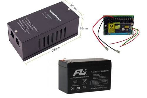 Fuente Centralizada Respaldo Acceso + Bateria 12v 5 Amp
