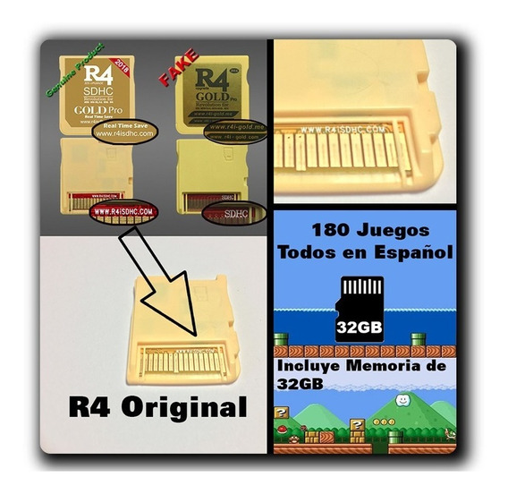 R4 Gold Pro 32gb 180 Juegos De Calidad Español Oferta