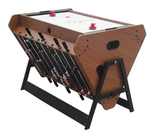 Mesa Juego Rotativa 3 En 1 Air Hockey Pool Tacataca