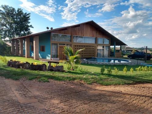 Rancho Com 3 Dormitórios À Venda, 300 M² Por R$ 680.000,00 - Condomínio Terra Da Barra - Mendonça/sp - Ra0082