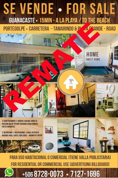 Remate!! Casa Y Lote A 15 Min Plays Grande Y Tamarindo