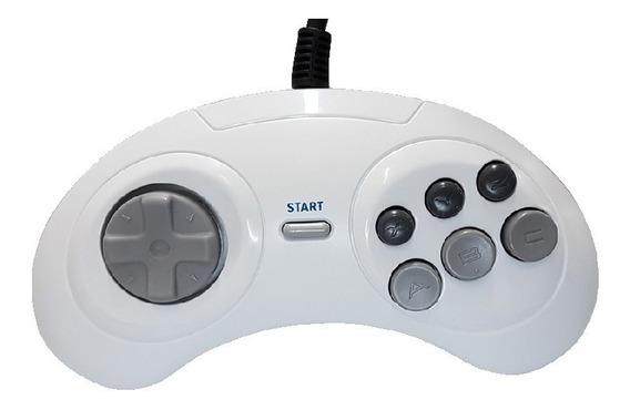 2 Joystick De Mega Drive 6 Botões, Controle De Sega,original