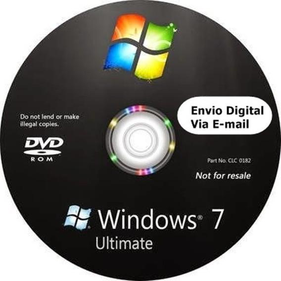 Cd Windows 7 Ultimate 32/64bits Ativado Envio Digital