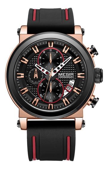 Megir 2100 Homens Relógio De Quartzo Esporte Simples Relóg