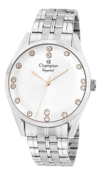 Relógio Feminino Prata Champion Cn 25547q - Super Promoção