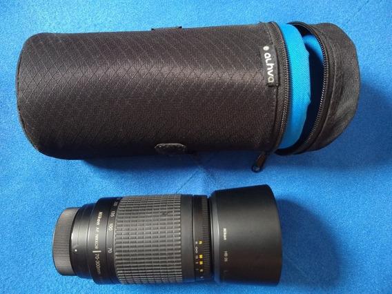 Lente Nikon 70-300mm + Case Alhva (leia Toda A Descrição!!)