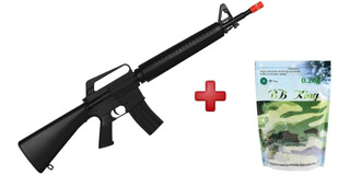 Rifle Airsoft Spring / Mola M16a1 6mm + 5000 Esfera 0.20g